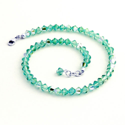 Ankle Bracelet Crystal Teal Jewelry For Charity